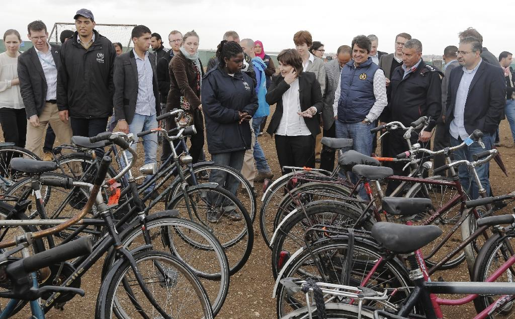 Dutch bikes given to Syrian refugee camp in Jordan