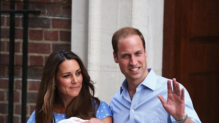 The Duke And Duchess Of Cambridge Leave The Lindo Wing With Their Newborn Son