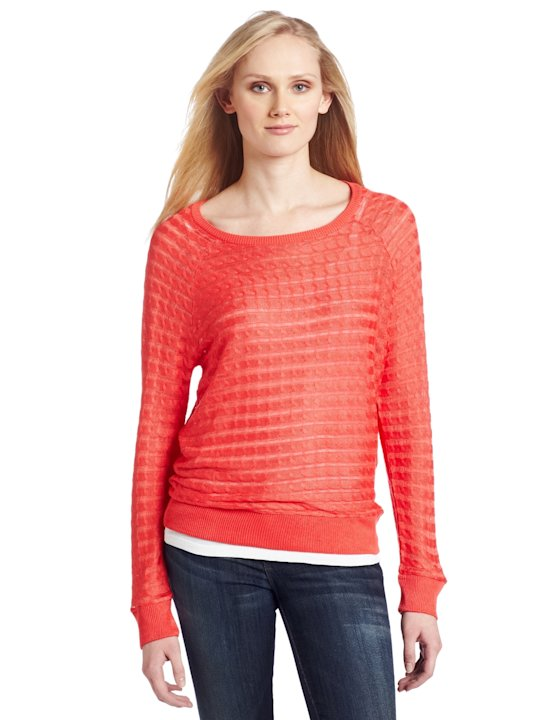 525 America Sideways Cable Sweater, $75