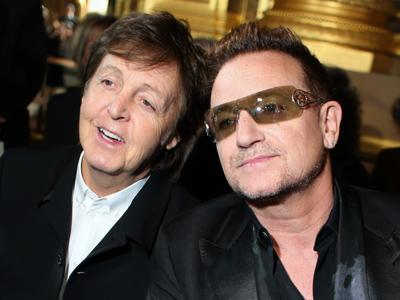 Macca and Bono Sit Front Row at Stella McCartney