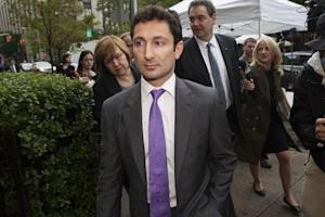 Former Goldman Sachs bond trader Fabrice Tourre leaves the Manhattan Federal Court in New York