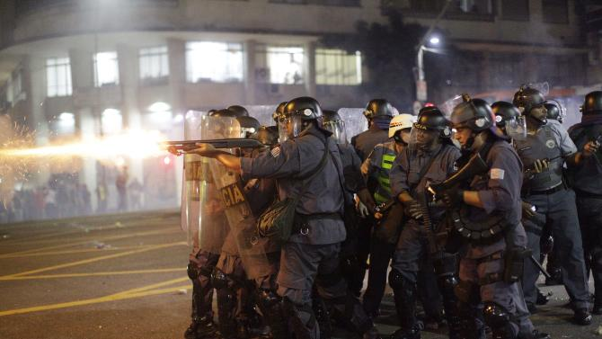 Protests in Brazil against hike in bus, metro fare