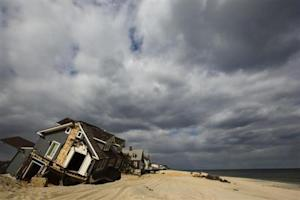 A home destroyed nearly five months ago during the landfall of Superstorm Sandy is pictured in Mantoloking, New Jersey