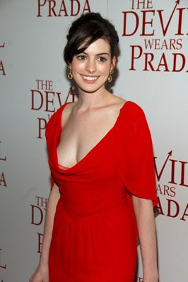 Anne Hathaway at the NY premiere of 20th Century Fox's The Devil Wears Prada