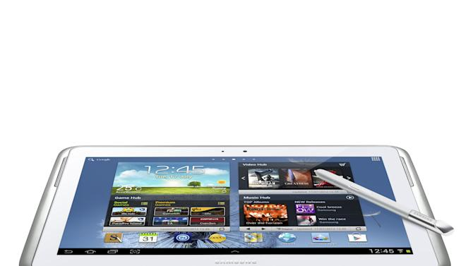 This undated image provided by Samsung Electronics America Inc. shows the Samsung Galaxy Note 10.1. Tablets are at the top of many wish lists this holiday season. The choice used to be pretty limited, with the iPad dominating over the latecomers. But this year, the field is more even, as tablets from Apple's competitors have matured. In addition, Google and Microsoft have dived in with their own tablets, providing more choice. (AP Photo/Samsung Electronics America Inc.)