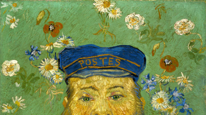 "In this photo provided by the Kroeller-Mueller Museum in Otterlo on Tuesday, Dec. 11, 2012 the 1889 painting ""Portrait of Joseph Roulin"" by Vincent van Gogh is seen. With the Van Gogh Museum in Amsterdam closed for renovations, the world's second-largest collection of the tortured Dutch master's work is stepping into the limelight. The lesser-known Kroeller-Mueller museum in the eastern Netherlands has revamped the layout of its central rooms, giving more space and focus to many of its top works. (AP Photo/ Kroeller-Mueller Museum)"