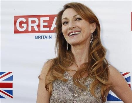Actress Jane Seymour, who played Bond girl Solitaire in the 1973 film &quot;Live and Let Die&quot;, arrives at the Great British Film Reception to honor the British Oscar nominees at the residence of the British Consul-General in Los Angeles February 22, 2013. REUTERS/Fred Prouser