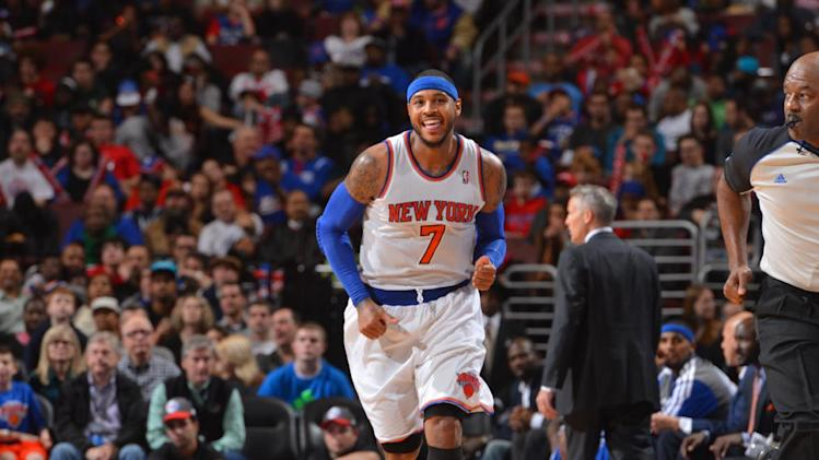 Knicks beat Sixers 102-92 for 4th win in a row