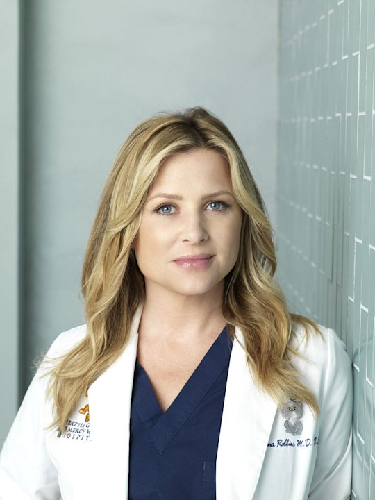 "Jessica Capshaw stars as Arizona Robbins in ""Grey's Anatomy."""