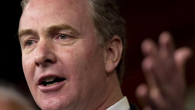 FILE - In this Dec. 22, 2011 file photo, Rep. Chris Van Hollen, D-Md., gestures during a news conference on Capitol Hill in Washington. Lawmakers headed home for a five-week break with a laundry list of uncompleted work and little to show for the past year and a half except an eye-popping amount of dissatisfaction _ nearly 80 percent of Americans are unhappy with them. The Republican-controlled House and Democratic-led Senate have set record lows for production and record highs for dysfunction. (AP Photo/Evan Vucci, File)