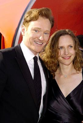 Conan O'Brien and wife Liza Powell 56th Annual Emmy Awards - 9/19/2004