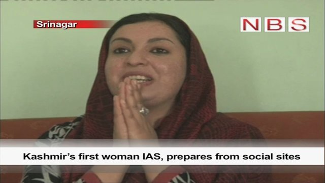 Kashmir's first woman IAS, prepares from social sites