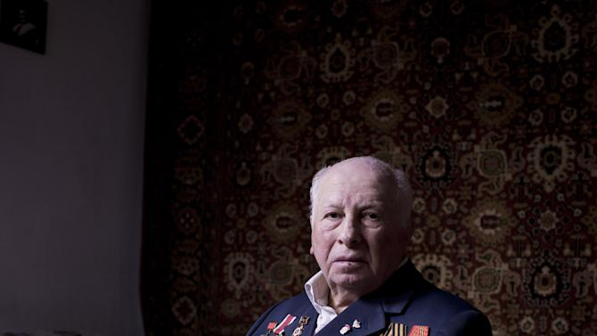 In this photo made Friday, April 12, 2013, Soviet Jewish World War veteran Matvey Gershman, 90, poses for a portrait at his house in the southern Israeli city of Ashkelon. Gershman joined the Red Army's air force in 1941. Later, he was transferred to the 5th Shock Army, and fought mostly in Ukraine, after which he joined the 8th Guard Army and took part in the Battle of Berlin, including the famous battle for the Reichstag. Gershman immigrated to Israel from Gomel, today's Belorussia, in 1990.  About 500,000 Soviet Jews served in the Red Army during World War Two, and the majority of those still alive today live in Israel. (AP Photo/Oded Balilty)