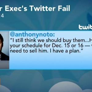 Twitter's Noto Suffers Twitter Fail on Company Business