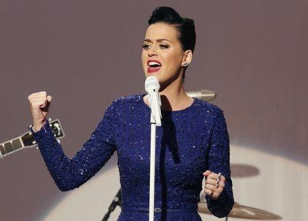 Singer Katy Perry performs at a concert commemorating the Special Olympics at the White House