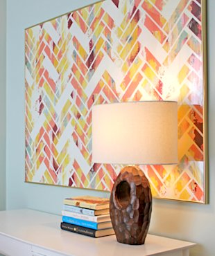 Herringbone Printed Painting