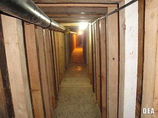 <p>US and Mexican authorities have unearthed a 240-yard-long drug smuggling tunnel, pictured in this image courtesy of the US Drug Enforcement Administration.</p>