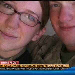 San Diego military couple wins dream honeymoon contest