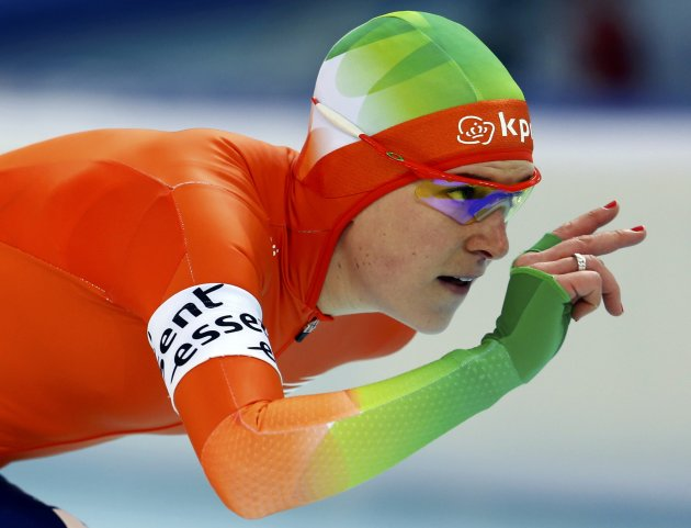 Wust of Netherlands competes during the women's 1500m event at the Essent ISU World Single Distances Championships 2013 in Sochi