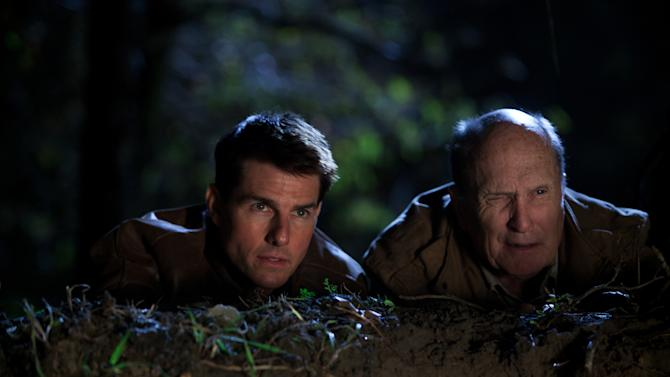 """This undated publicity photo released by Paramount Pictures shows, from left, Tom Cruise as Reacher and Robert Duvall as Cash in the film, """"Jack Reacher."""" (AP Photo/Paramount Pictures, Karen Ballard)"""