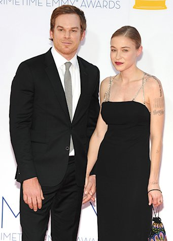 Michael C. Hall Packs on PDA With New Girlfriend Morgan Macgregor at 2012 Emmy Awards!