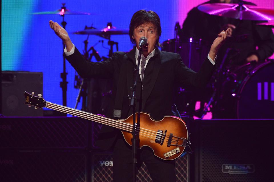 Paul McCartney performs at IHeartRadio Music Festival, day 2, Saturday, September, 21, 2013 in Las Vegas, NV. (Photo by Al Powers/Powers Imagery/Invision /AP)