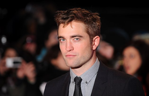 Robert Pattinson arriving at the premiere of The Twilight Saga: Breaking Dawn Part 2 in Leicester Square