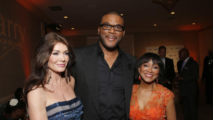 "IMAGE DISTRIBUTED FOR CARRY FOUNDATION - From left, Lisa Vanderpump, Tyler Perry and Dr. Pearl Grimes attend the CARRY Foundation's 7th Annual ""Shall We Dance"" Gala at The Beverly Hilton Hotel on Saturday, May 11, 2013 in Beverly Hills, California. (Photo by Todd Williamson/Invision for CARRY Foundation/AP Images)"
