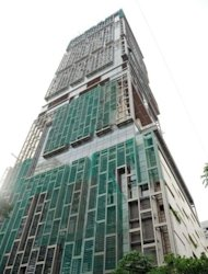 <p>View of Mukesh Ambani's Antilla residence in Mumbai, on October 19, 2010. The 27-storey residence is named after a mythical island in the Atlantic Ocean. India has 55 billionaires but like other emerging economies its charitable giving still lags markedly behind that in the West where the tradition of wealthy businessmen donating chunks of their fortunes is much more deeply ingrained.</p>