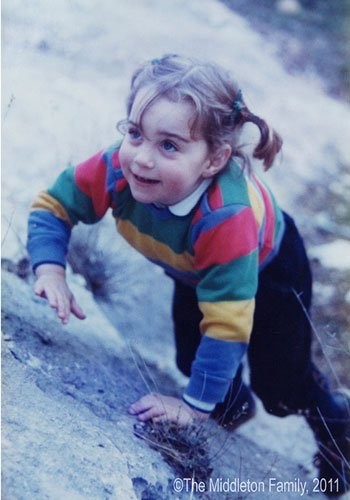 Kate, aged three and a half, on a family holiday in the Lake District, UK. Picture by: The Middleton Family / Splash News