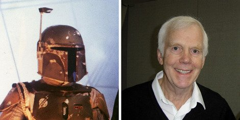 Jeremy Bulloch wearing the iconic armour (left) and at MCM Midlands (right).