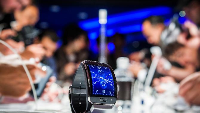 A Samsung Gear S, a mobile watch device is seen during an event in Berlin ahead of the consumer electronics trade fair 'Internationale Funk Ausstellung'(IFA), in 2014