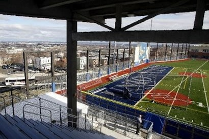 The Union City baseball field, four stories above Union City, N.J. — Newark Star-Ledger