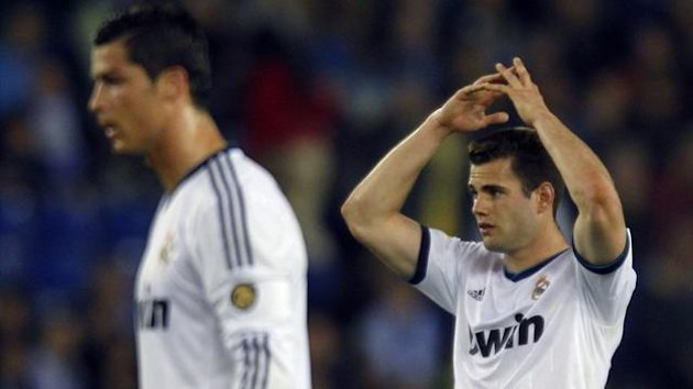 Real Madrid's Cristiano Ronaldo (L) and Nacho (Reuters)