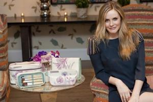 Alicia Silverstone shows off some of her eco-chic products --