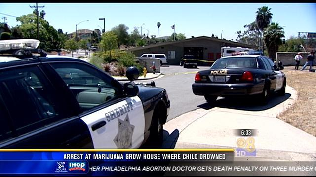 6AM UPDATE   Arrest at marijuana grow house where one-year-old drowned