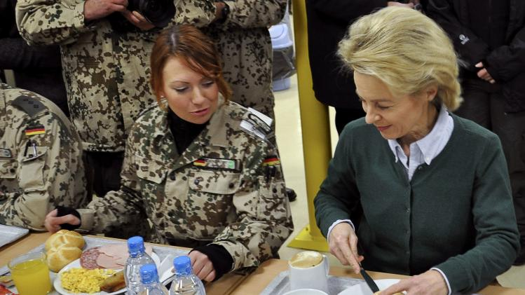 German Defence Minister Ursula von der Leyen visits German troops in Mazar-i-Sharif