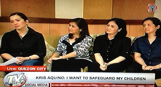 On National TV, Kris Aquino announces that she has decided to tender her resignation and give up her showbiz commitments for her son.