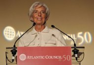 "International Monetary Fund chief Christine Lagarde, pictured September 21, warned Argentina that it faces a ""red card"" if it does not produce acceptable data on growth and inflation by December"
