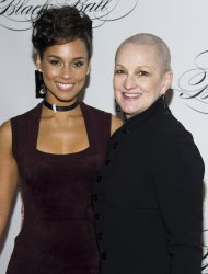 Alicia Keys and her mother Teresa Augello attend the Keep a Child Alive's ninth annual Black Ball on Thursday, Dec. 6, 2012 in New York. (Photo by Charles Sykes/Invision/AP)