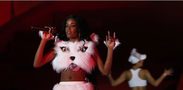 U.S. singer Banks performs during the opening ceremony of the 21st Life Ball in Vienna