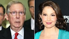 gty ashley judd Mitch McConnell nt 130409 wblog Was McConnells Senate Staff Digging Up Dirt on Ashley Judd?