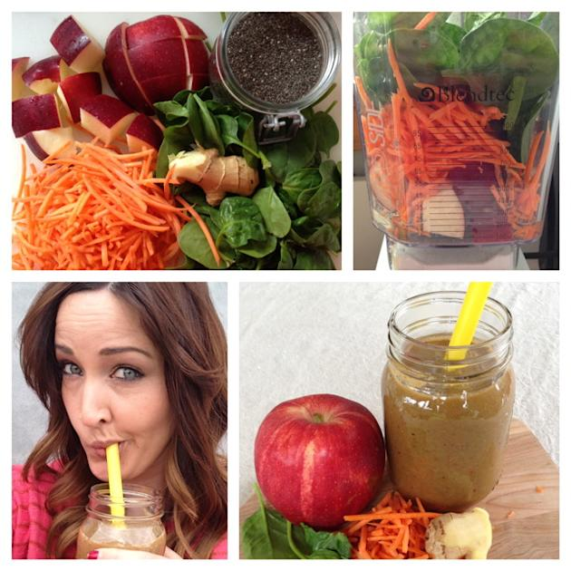 Apple Carrot Spinach Smoothie Recipe