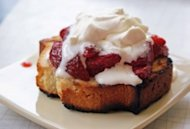 Grilled Pound Cake With Grilled Strawberries
