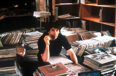 John Cusack as music store owner Rob Gordon in Touchstone's High Fidelity