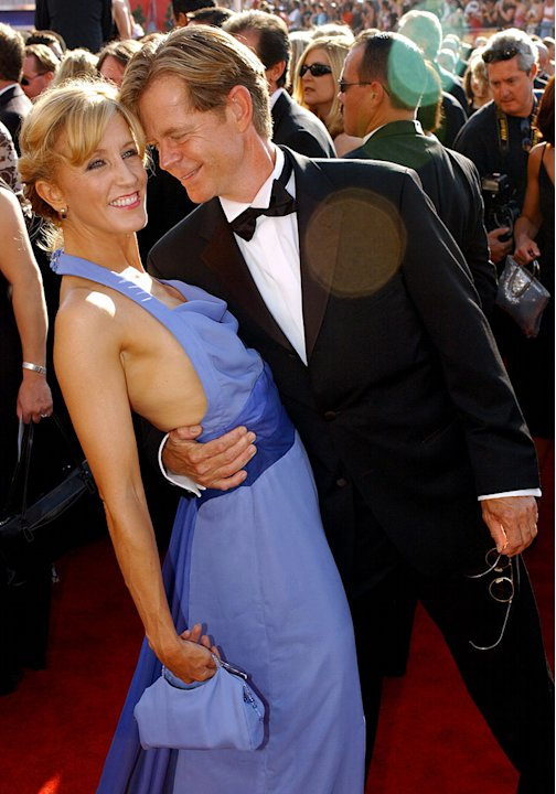 Felicity Huffman and William H. Macy at The 55th Annual Primetime Emmy Awards. 