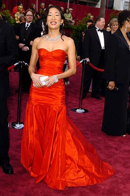 Sandra Oh 77th Annual Academy Awards - Arrivals Hollywood, CA - 2/27/05