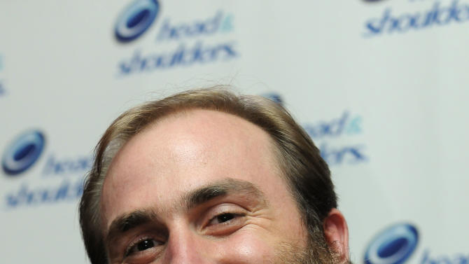 Pittsburgh Steelers football player Brett Keisel is seen at a Head & Shoulders media event at famed Pat O'Brien's on Wednesday, Jan. 30, 2013 in New Orleans, LA. (Photo by Cheryl Gerber/Invision for Head & Shoulders/AP Images)