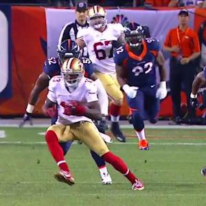 San Francisco 49ers wide receiver Stevie Johnson 31-yard reception