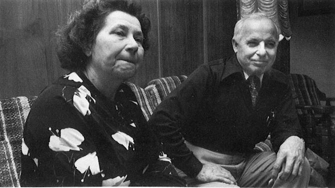This 1982 photo provided by the University of Minnesota shows Nadia and Michael Karkoc. The Associated Press has uncovered testimony that says Michael Karkoc, a Minnesota man who was a Nazi SS-led company commander, ordered his men to attack a village that was razed to the ground in 1944, contradicting claims by the man's family that he was never at the scene of the civilian massacre. (AP Photo/University of Minnesota School of Journalism and Mass Communication, Thomas Perry)